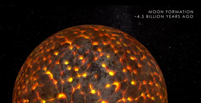 WATCH: Evolution of the Moon